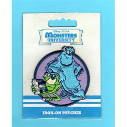 Monsters University Mike & Sully Broderet strygemærke Ø 6 cm