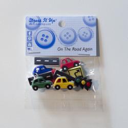 Biler og veje - Dress it up knapper