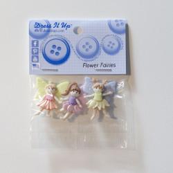 Blomster feer - Dress it up knapper