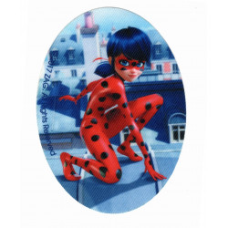 Lady Bug Mariehønen Printet strygelap / strygemærke 11x8 cm