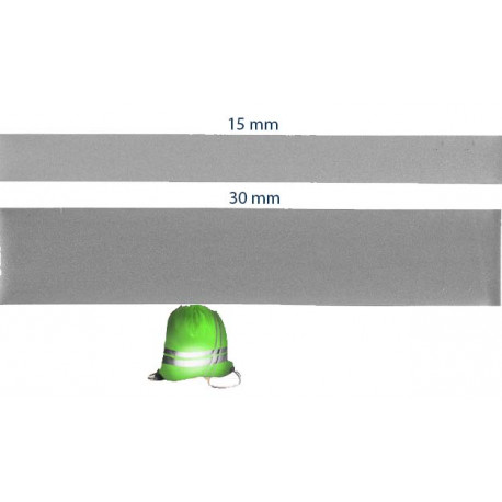 Reflex bånd til at stryg på i 15 eller 30 mm bred