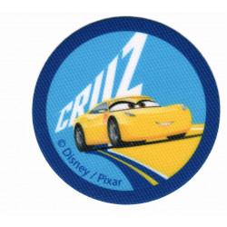 Cars 3 Cruz printet strygemærke Ø 6,5 cm