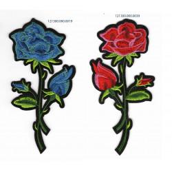 Roser Broderet strygemærke13,5x7 cm