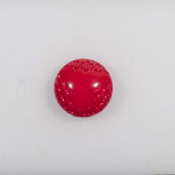 Rød bombe knap m/øje 18 mm