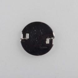 Knap m/øje 18 mm metal sølv