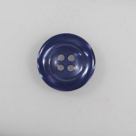 4 hul knap Blank 20mm Gråblå