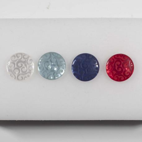 Knap m/øje, 4 farver, 15mm - 10176-15