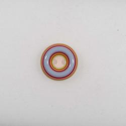 Multifarvet børne knap 2-hul 15 mm