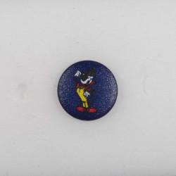Knap m/ øje Mickey Mouse 18 marineblå