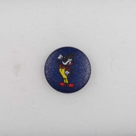 Knap m/øje Mickey Mouse 18 mørk blå