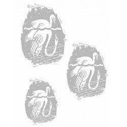 Onion Printark - Ælling / Svane, sølv