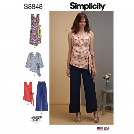 Kjole og tunika også plusmode snitmønster Simplicity 8848