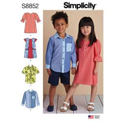 Pige og drengetøj snitmønster Simplicity 8852