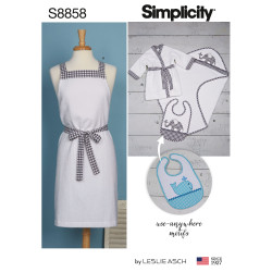 Bade forklæde og babytøj snitmønster Simplicity 8858