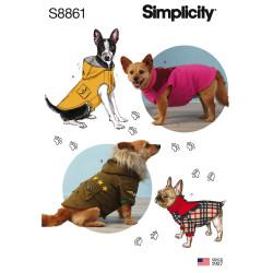 Overtøj til små hunde snitmønster Simplicity 8861