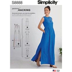 Maxi kjole m/lommer snitmønster