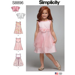 Pige kjole og bolero snitmønster Snitmønstre 8896