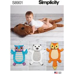 Babytæppe snitmønster Simplicity 8901