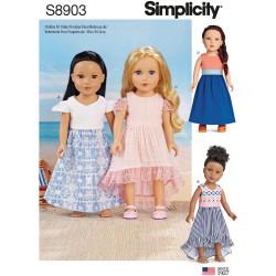 Dukketøj 45,5 cm dukke snitmønster Simplicity 8903