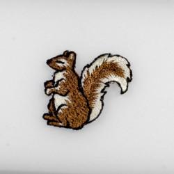Egern broderet strygemærke 2,5x3 cm