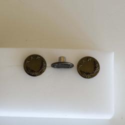Patent knap m/stjerne og løv 20mm