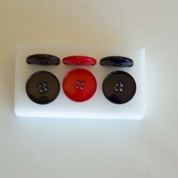 4-Huls knap 28 mm