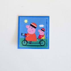 Gurli Gris og mor gris printet strygemærke 6,5x6,5 cm