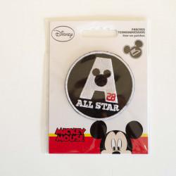 Mickey Mouse All Star 28 Broderet strygemærke Ø 6,5 cm