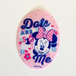 Minnie Mouse m/polkaprikker Printet strygemærke 11x8 cm