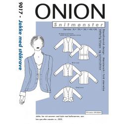 Jakke m/ståkrave plusmode Onion snitmønster