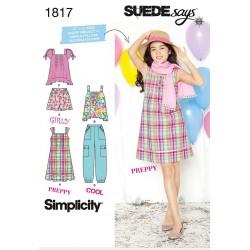 Sæt, pigetøj,kjole,bukser,top også til pige+ snitmønster