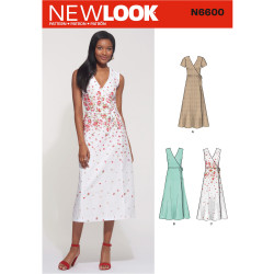 Slå-om-kjole New Look snitmønster