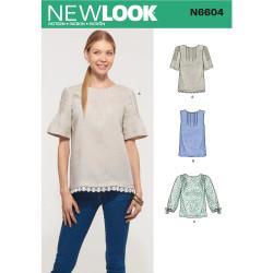 Bluse New Look snitmønster 6604