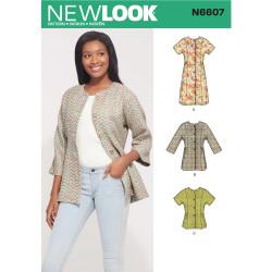 Jakke og kjole New look snitmønster 6607