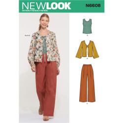 Bukser bluse og top New Look snitmønster 6608