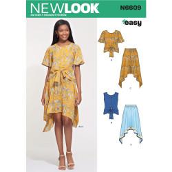 Nederdel og bluse New Look snitmønster