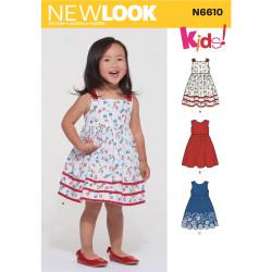 Kjole til småpiger New Look snitmønster