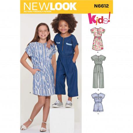 Jumpsuit og kjole pigetøj New look snitmønster