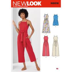 Buksedragt og kjole New look snitmønster 6616