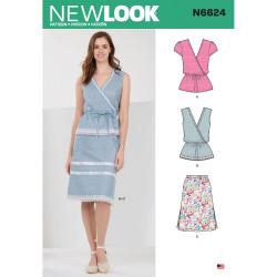 Bluse og Nederdel New Look snitmønster