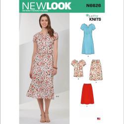 Nederdel bluse og kjole New look snitmønster