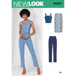 Bukser nederdel og top New look snitmønster 6627