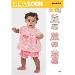 Babykjole og bukser New Look snitmønster 6628