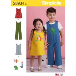 Kjole og heldragt børnetøj snitmønster
