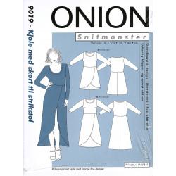 Kjole m/skørt plusmode Onion snitmønster 9019