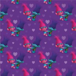 Trolls Poppy & Kvist Jersey lilla Digital print metervare