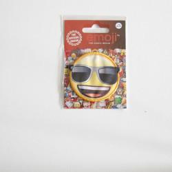 Emoji Smiley m/solbriller strygemærke Ø 6,5 cm