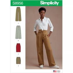 Bukser og nederdel snitmønster Simplicity 8956