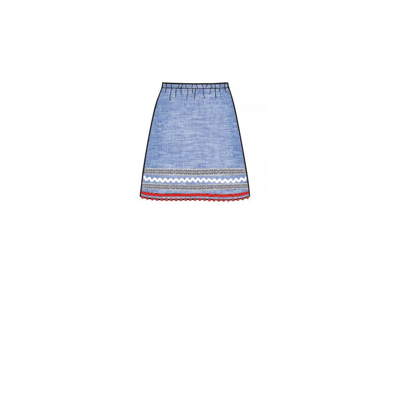 Pige nederdel snitmønster