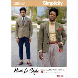 Herre jakke Simplicity snitmønster 8962
